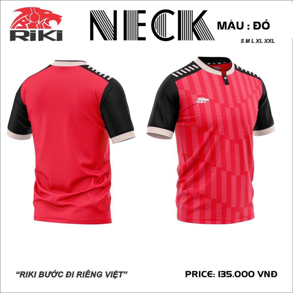 Áo bóng đá không logo Riki Neck màu đỏ mới nhất 2020