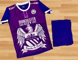 Áo bóng đá CLB Manchester City màu tím mới nhất 2020
