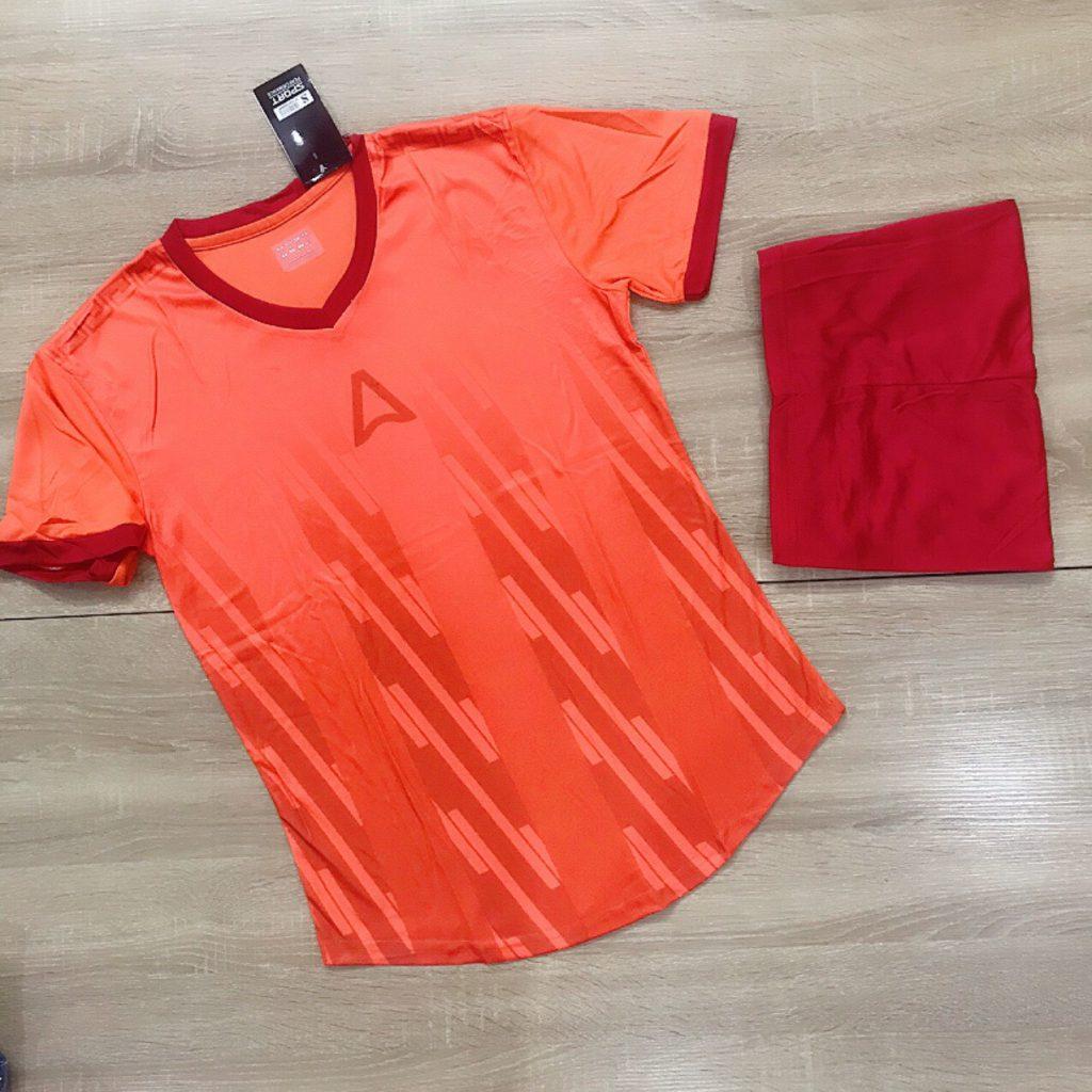 Áo bóng đá không logo Belo A1 màu cam mới nhất năm 2020