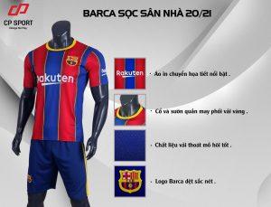 Áo bóng đá CLB Barca sọc sân nhà mùa giải 2020-2021