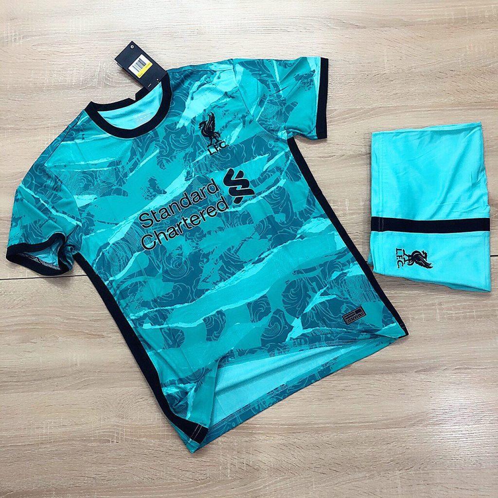 Áo bóng đá CLB Liverpool màu xanh ngọc mới nhất năm 2020