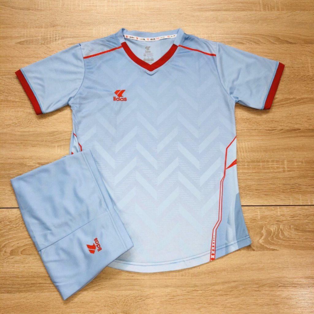 Áo bóng đá không logo Lidas L1 màu xanh da trời