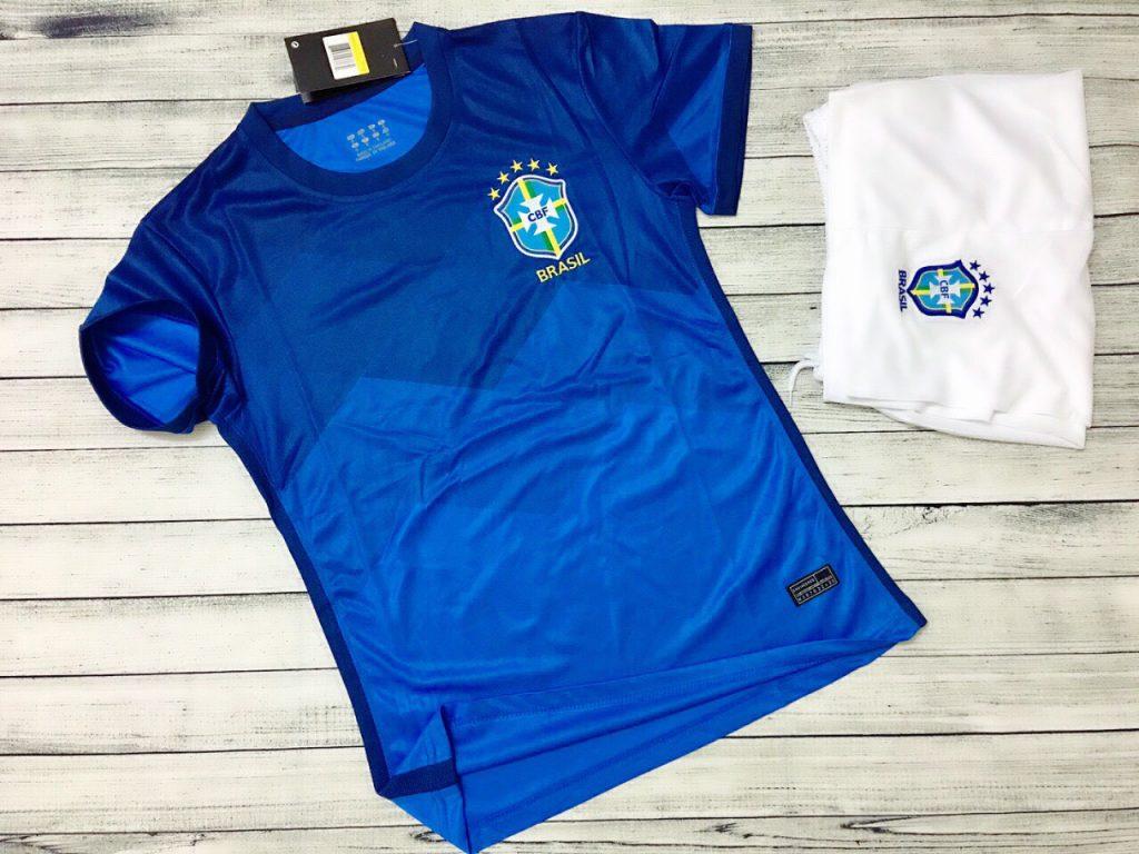 Áo bóng đá đội tuyển Brasil màu xanh dương mới nhất 2020