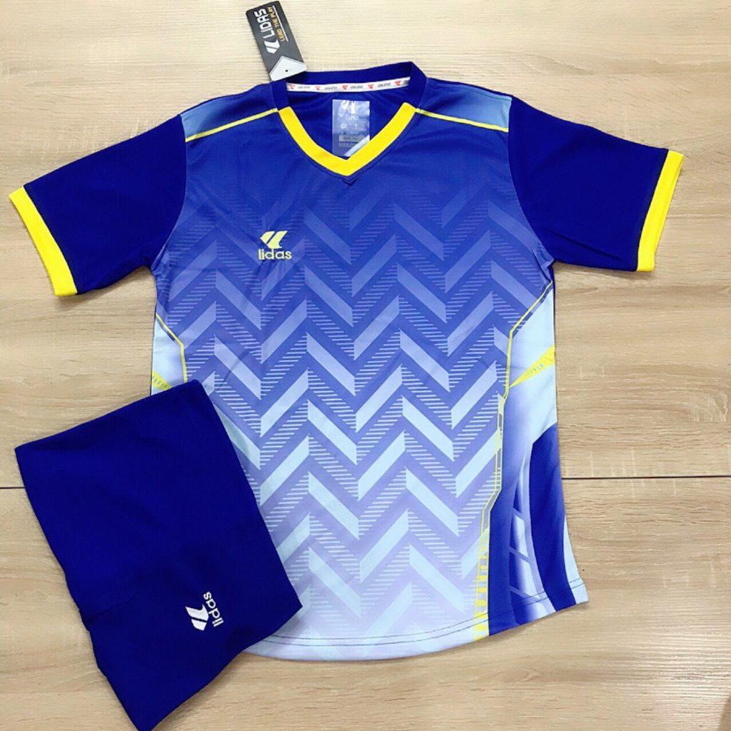 Áo bóng đá không logo Lidas L1 màu xanh dương