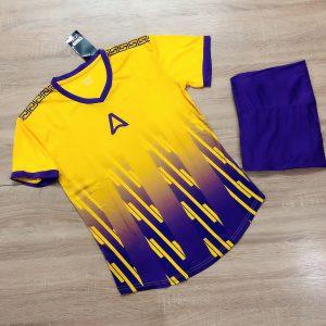Áo bóng đá không logo Belo A1 màu vàng cúc mới nhất năm 2020