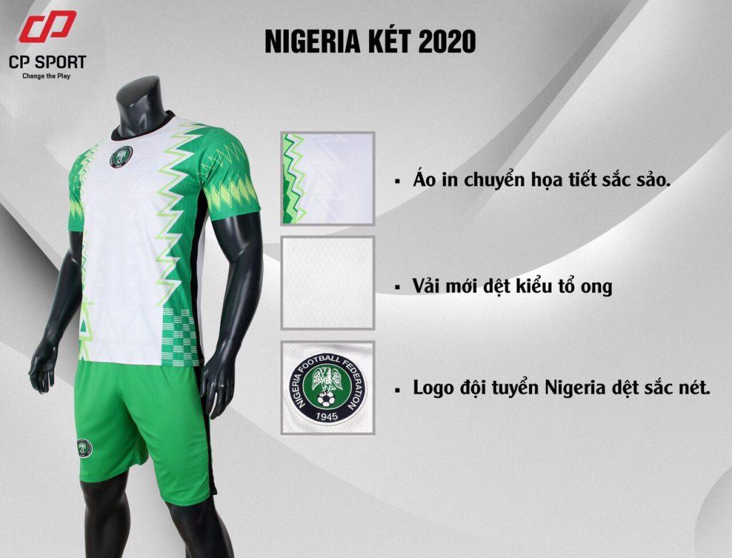 Áo bóng đá đội tuyển Nigeria màu xanh lá mùa giải 2020-2021