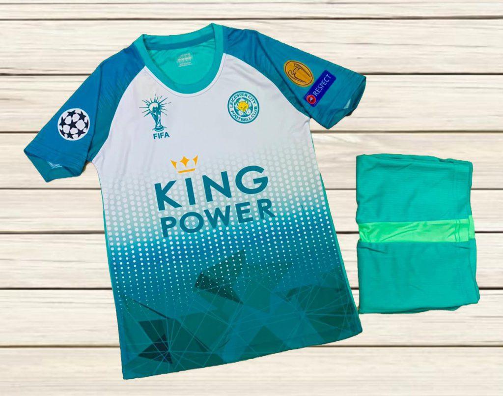Áo bóng đá CLB Leicester City màu xanh lá phối trắng mùa hè 2020