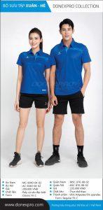Áo cầu lông Donexpro chính hãng DP01 màu xanh dương xuân hè 2020