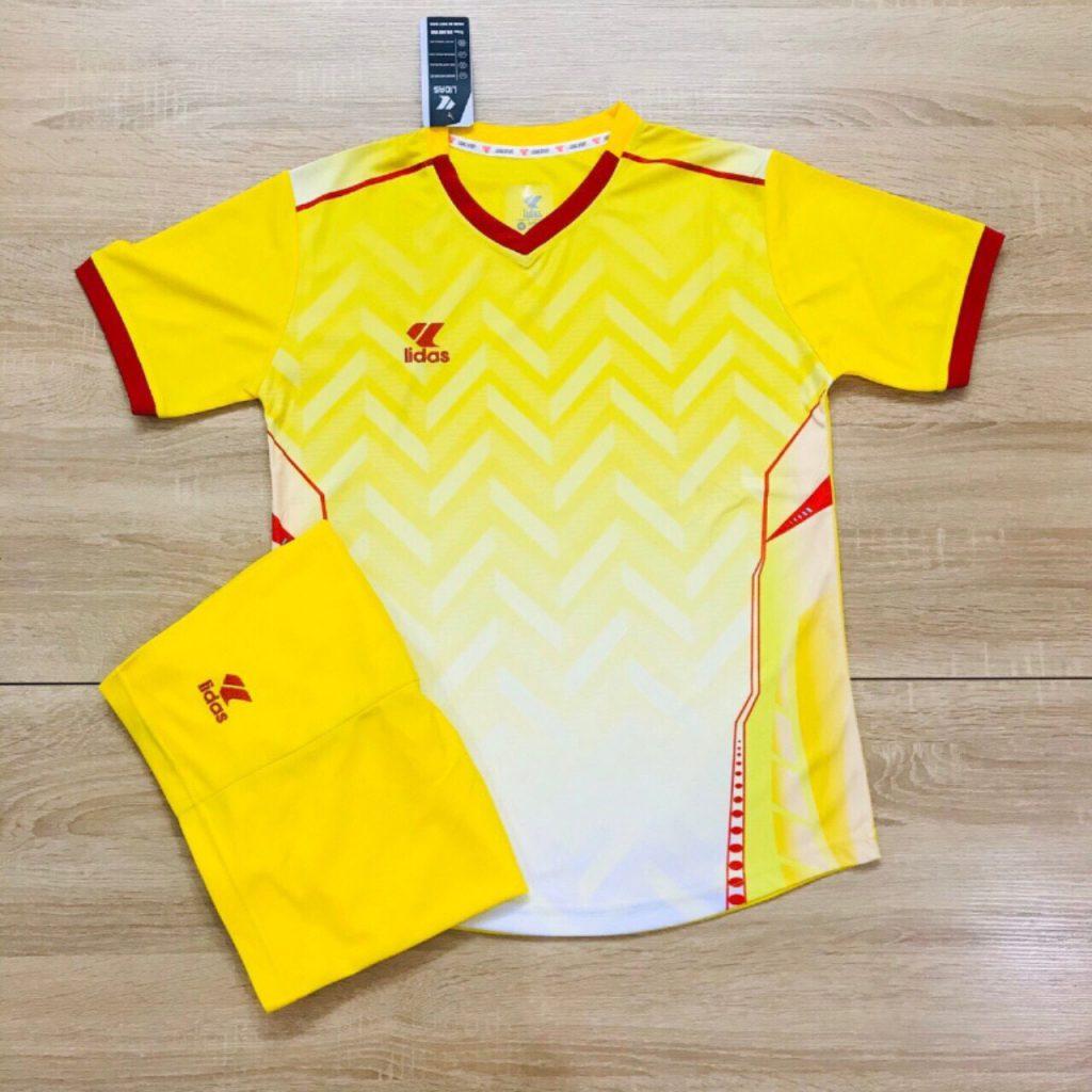 Áo bóng đá không logo Lidas L1 màu vàng tươi