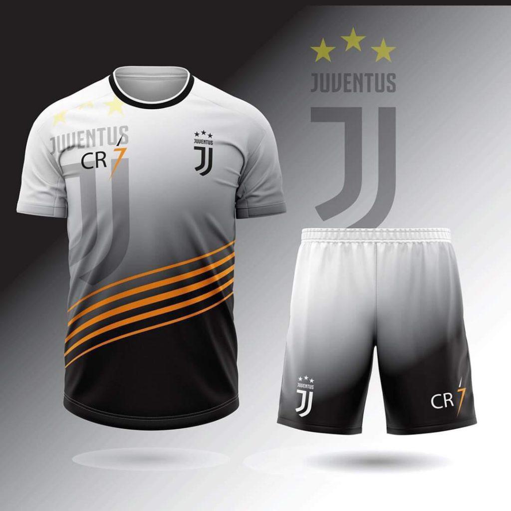 Áo bóng đá CLB Juventus màu đen xám mới nhất năm 2020