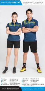 Áo cầu lông Donexpro chính hãng màu xanh xám xuân hè 2020
