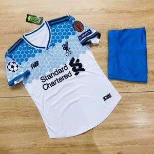 Áo bóng đá CLB Liverpool màu trắng phối xanh mới nhất 2020