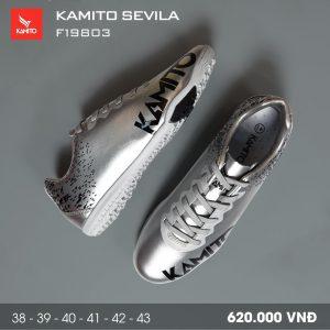 Giày bóng đá Kamito Sevila màu bạc mới nhất năm 2020