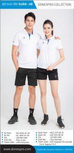 Áo cầu lông Donexpro chính hãng màu trắng xuân hè 2020
