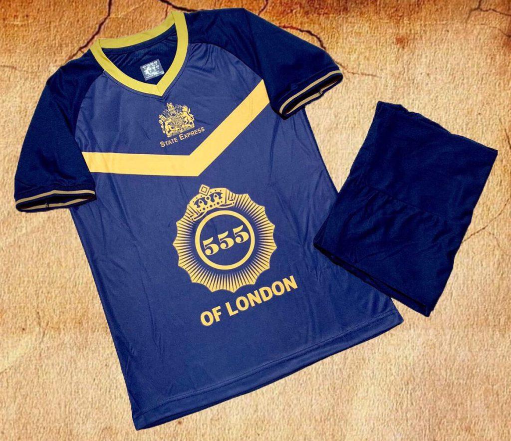 Áo bóng đá Bia 555 London màu tím than hot nhất 2020
