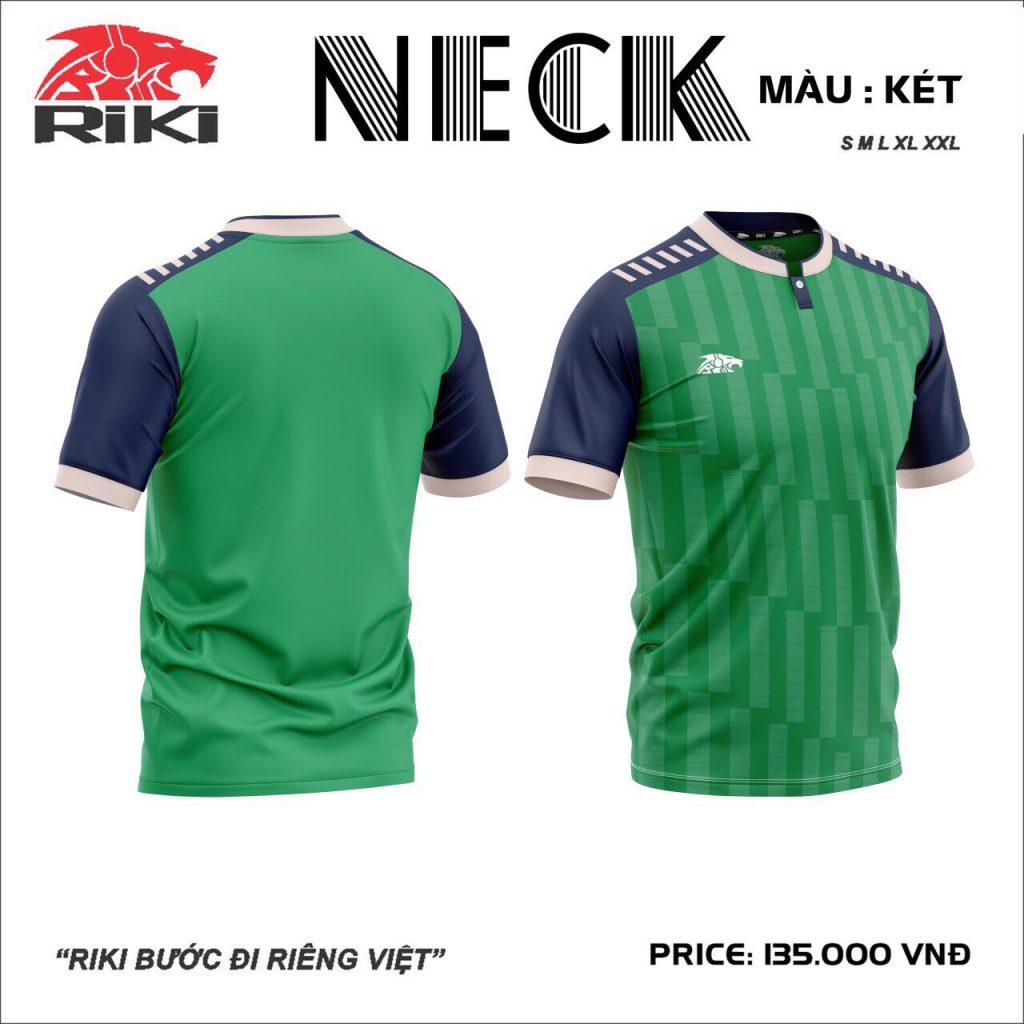 Áo bóng đá không logo Riki Neck màu xanh lá mới nhất 2020