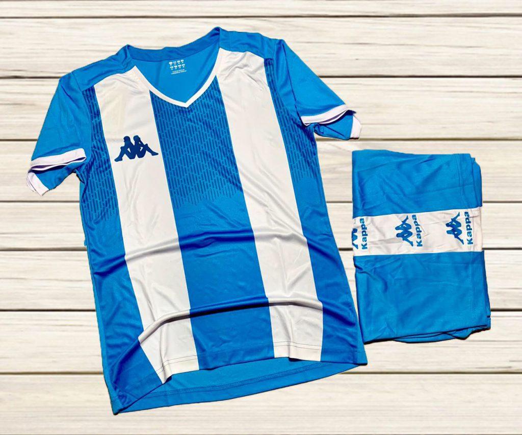 Áo bóng đá không logo Kappa K2020 màu trắng phối xanh mới nhất