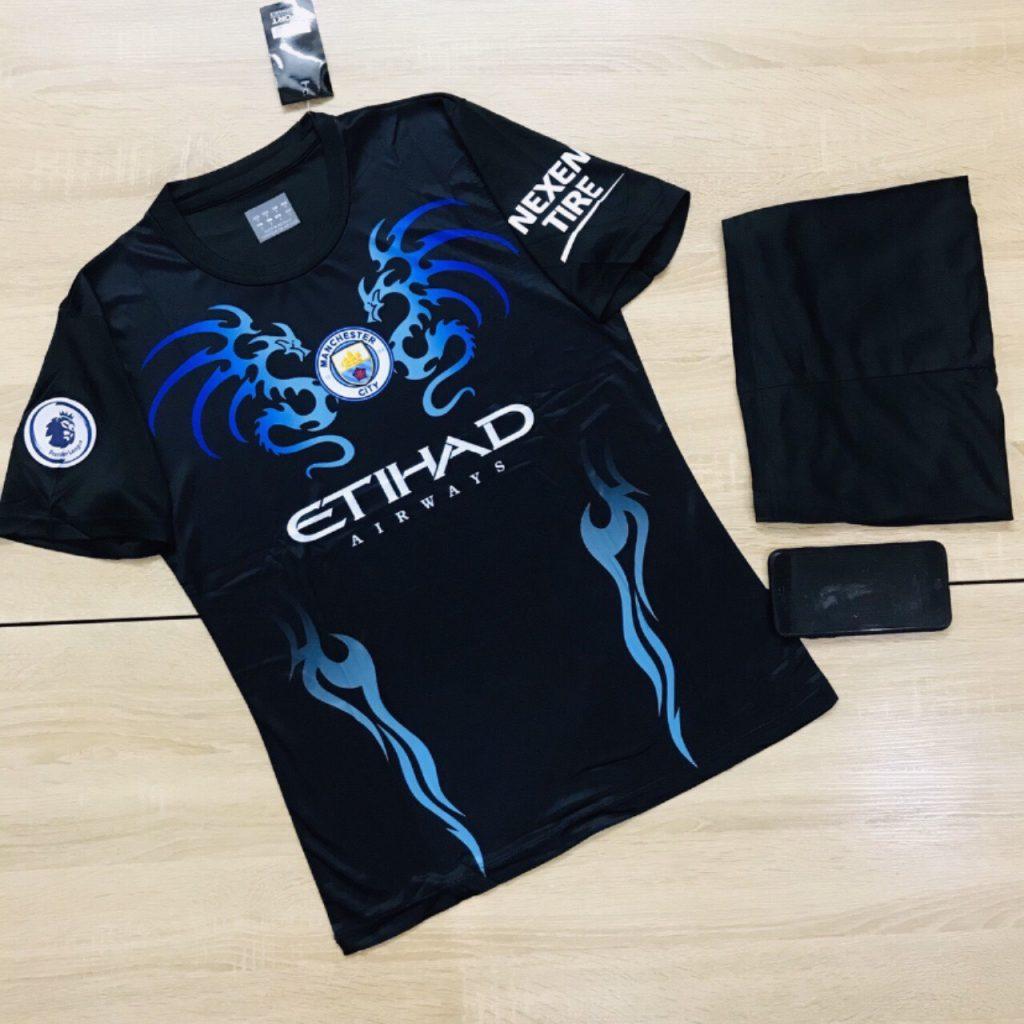 Áo bóng đá CLB Manchester City màu đen mới nhất mùa hè năm 2020