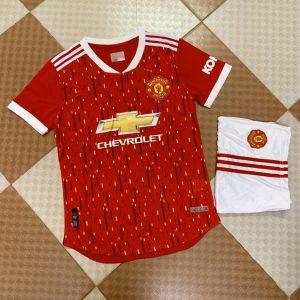 Áo bóng đá CLB Manchester United màu đỏ tươi mùa 2020-2021