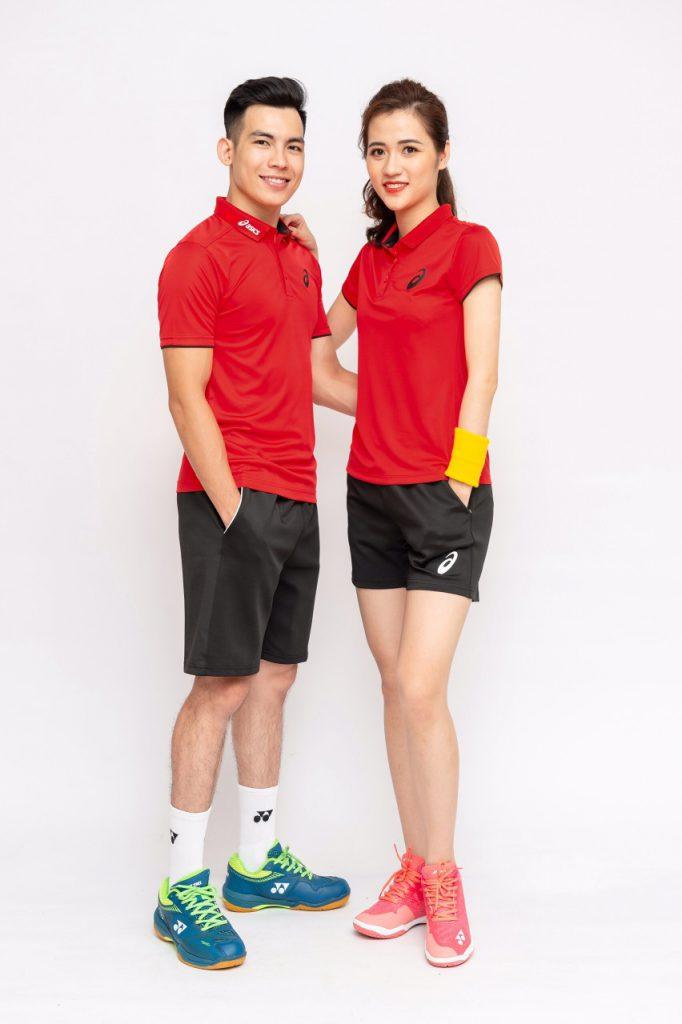 Áo cầu lông, tenis Asics A1 màu đỏ tươi mới nhất năm 2020