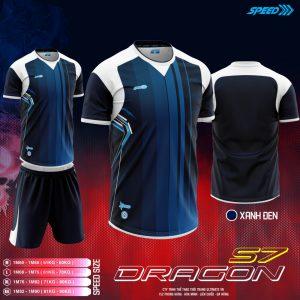 Áo bóng đá không logo Speed Dragon màu xanh đen mới nhất 2020