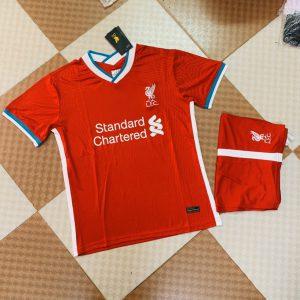 Áo bóng đá CLB Liverpool màu đỏ tươi mùa 2020-2021