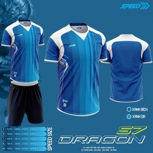 Áo bóng đá không logo Speed Dragon màu xanh da trời mới nhất 2020