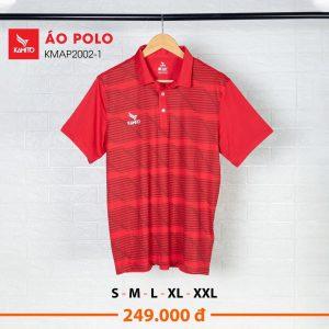 Áo Polo Kamito KMAP2002-1 chính hãng màu đỏ tươi