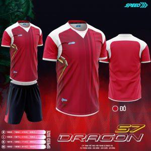 Áo bóng đá không logo Speed Dragon màu đỏ mới nhất 2020