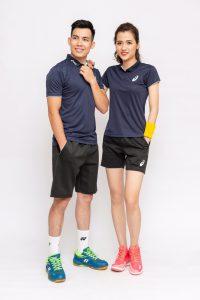 Áo cầu lông, tenis Asics A1 màu đen mới nhất năm 2020