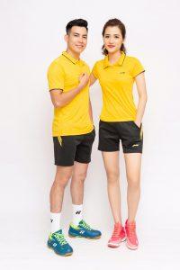 Áo cầu lông Lining L3 màu vàng mới nhất năm 2020