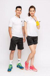 Áo cầu lông, tenis Asics A1 màu trắng mới nhất năm 2020