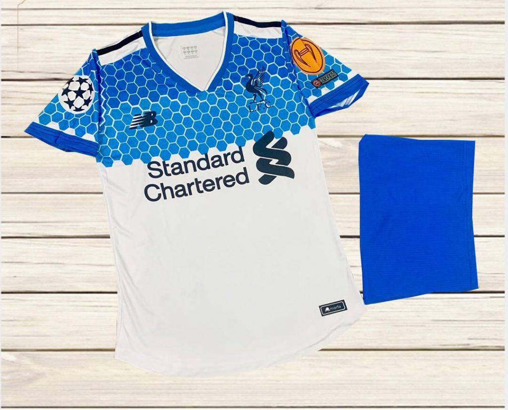 Áo bóng đá CLB Liverpool màu trắng phối xanh mùa 2020-2021