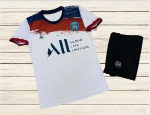 Áo bóng đá CLB Paris Saint Germain màu trắng mới nhất mùa 2020 2021