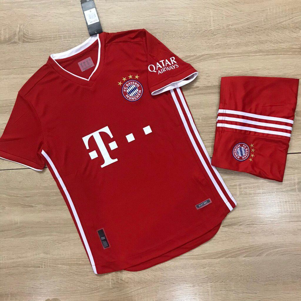 Áo bóng đá CLB Bayern Munich màu đỏ tươi mùa 2020-2021