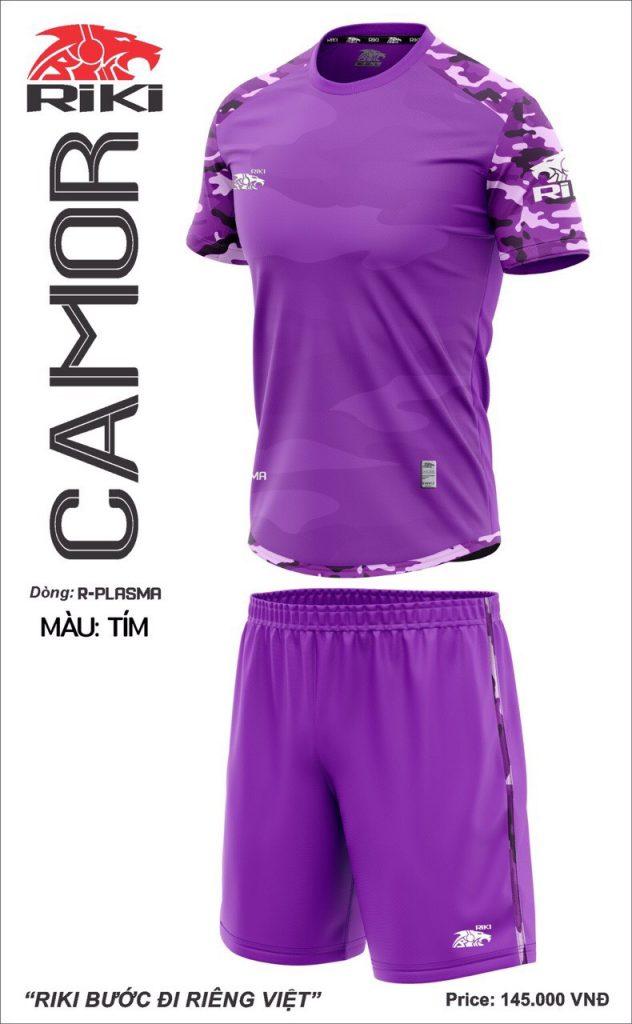 Áo bóng đá không logo Riki Camor màu tím mới nhất năm 2020