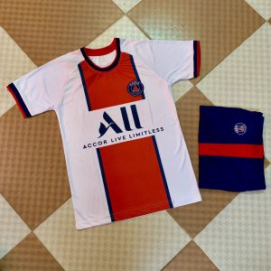Áo bóng đá CLB Paris Saint Germain màu trắng sọc đỏ mùa 2020 2021