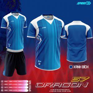Áo bóng đá không logo Speed Dragon màu xanh bích mới nhất 2020