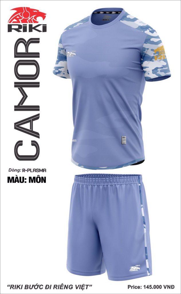 Áo bóng đá không logo Riki Camor màu khoai môn mới nhất năm 2020
