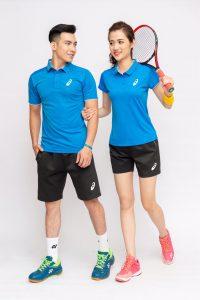 Áo cầu lông, tenis Asics A1 màu vàng mới nhất năm 2020