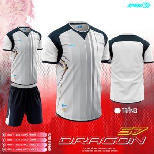 Áo bóng đá không logo Speed Dragon màu trắng mới nhất 2020