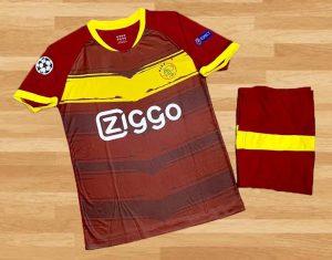 Áo Bóng Đá Clb Ajax Vải Thun Cao Cấp Màu Đỏ Mùa 2020-2021