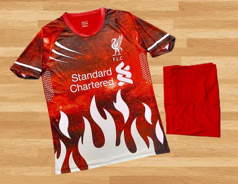 Áo Bóng Đá Clb Liverpool Vải Thun Cao Cấp Màu đỏ Mùa 2020-2021