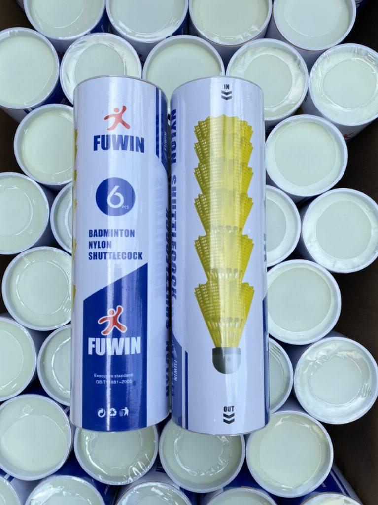Quả cầu lông fuwin F600 nhựa 6 quả
