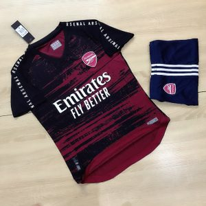 Áo Bóng Đá Cao Cấp Clb Arsenal Màu đen phối Đỏ Mùa 2020-2021