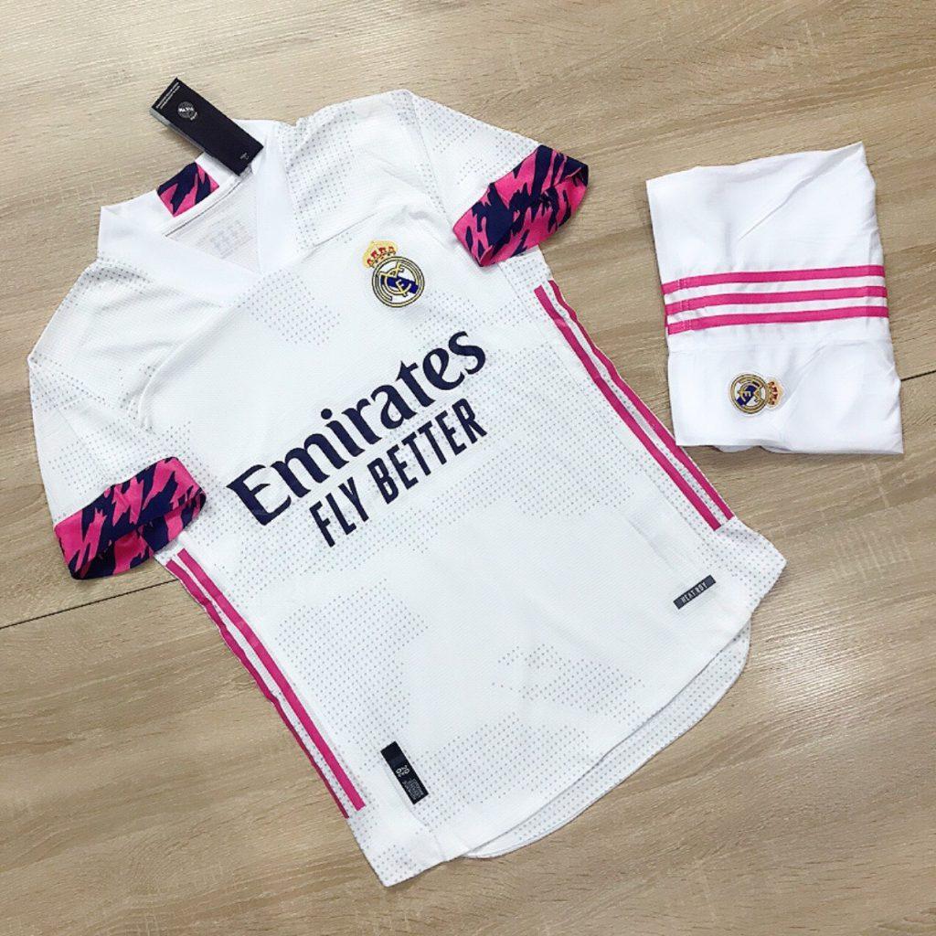 Áo Bóng Đá Cao Cấp Clb Real Madrid Màu Trắng Mùa 2020-2021
