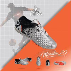 Giày bóng  đá  Mira Lux 2.0 màu Bạc phối Đen