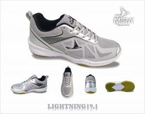 Giày bóng chuyền cầu lông Mira 2020 màu bạc