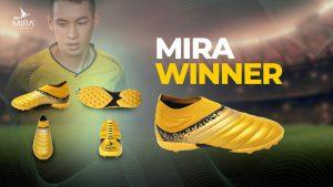 Giày bóng đá Mira WINNER không đây, cổ chun màu Vàng