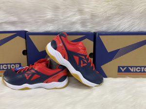 Giày bóng chuyền, cầu lông victor A170 màu tím than phối đỏ